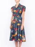 Lhd - Glades Dress, Navy Quirky Farm Animal - Women