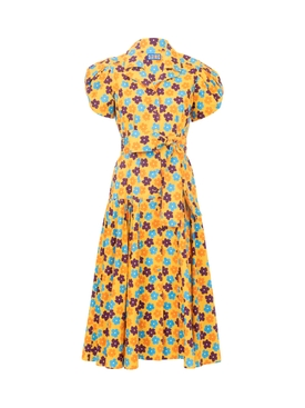 Yellow Retro Blossom The Glades Dress