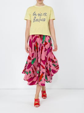 Lhd - French Riviera Skirt, Pink Corsican Trout - Women