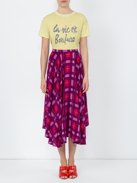 Purple Plaid French Riviera Skirt