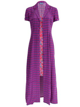 Lhd - Purple Gingham And Floral Marlin Dress - Women