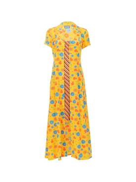 Lhd - Marlin Dress, Sunny Floral And Brown Gingham - Women