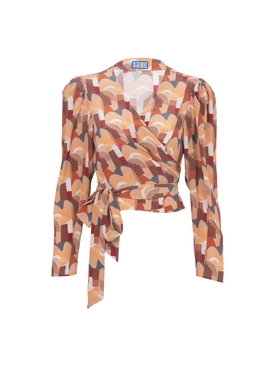 Bonifacio Abstract Odalys Blouse NEUTRAL