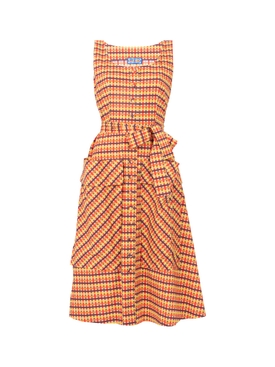 Brown Country Gingham The Ramatuelle Dress
