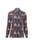 Lhd - The Star Island Shirt Navy Quirky Farm Animal - Women
