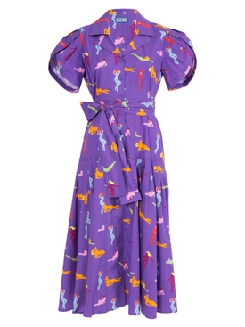 Lhd - Glades Dress Beach Babes Purple - Women