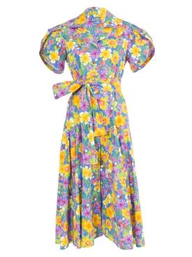 Glades Dress Floral Blue