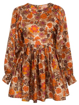 Lhd - Arnette Dress, Floral Rust - Women