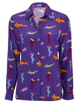 Star Island Blouse Beach Babes Purple