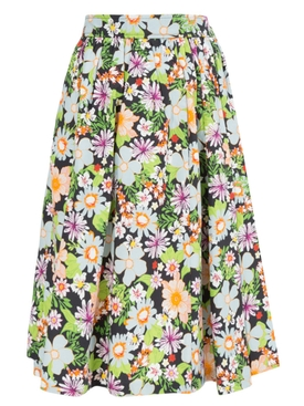 Lhd - Hearst Castle Skirt, Floral Blue - Women