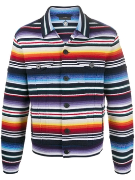 Striped multicolored cashmere jacket