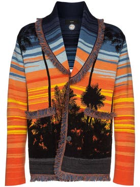 Alanui - Sunset Intarsia Knit Cardigan - Men
