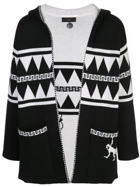 Alanui - Crazy Monkey Hooded Cardigan - Men