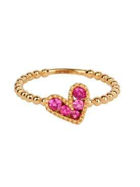 Rosa De La Cruz - Baroque Boules Heart Charm Ring - Women