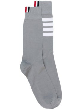 Thom Browne - Tricolor Logo Socks Grey - Men