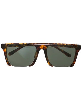 Linda Farrow - Linda Farrow X Marcelo Burlon Half Rim Shield Sunglasses - Sunglasses