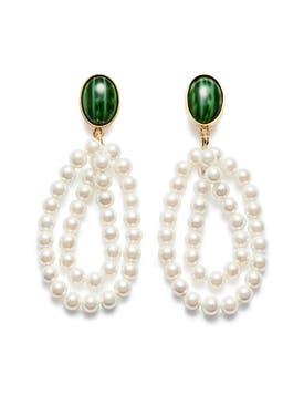 Magda Butrym - Green Windflower Earrings - Women