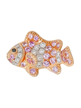 PINK SAPPHIRE & DIAMOND SMALL FISH EARRING