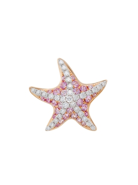 PINK SAPPHIRE & DIAMOND SEA STAR EARRINGS