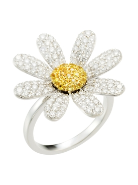 YELLOW SAPPHIRE & DIAMOND MARGARET RING