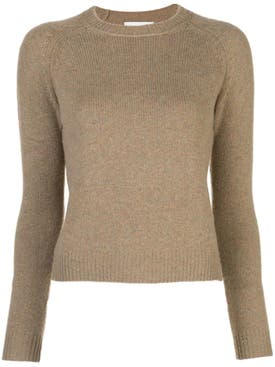 Alexandra Golovanoff - Ribbed Crew-neck Cashmere Sweater Brown - Women
