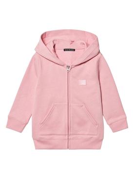 Kids zipped hoodie BLUSH PINK