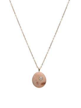 Mini me stone and diamond necklace
