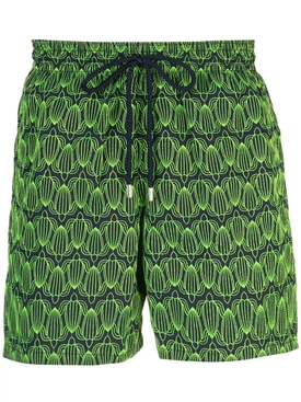 GREEN TURTLE EMBROIDERED MISTRAL SWIMMING TRUNK