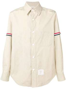 Thom Browne - Snap Front Grosgrain Armband Shirt - Men