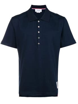 Thom Browne - Medium Weight Polo Navy - Men