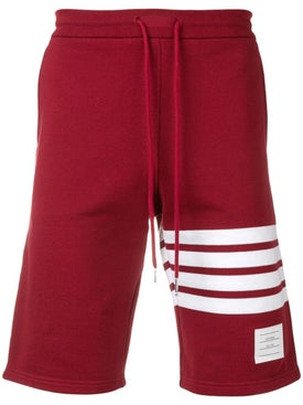 Thom Browne - 4-bar Cotton Sweatshort Red - Men