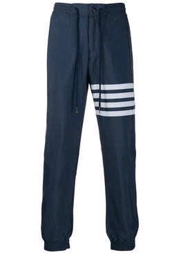 Thom Browne - 4-bar Drawstring Track Pants Navy - Men