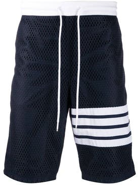 Thom Browne - Mesh Track Shorts Navy - Men
