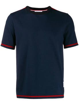 Thom Browne - Classic Side Slit T-shirt Navy - Men