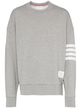Thom Browne - 4-bar Sleeve Cotton Sweatshirt Grey - Men