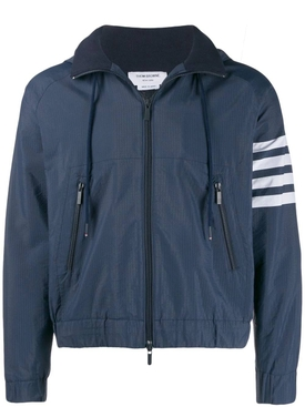 Thom Browne - Striped Windbreaker Jacket Navy - Men
