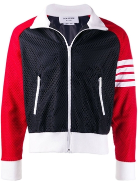 4-bar mesh track jacket NAVY/RED