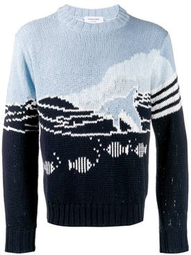 Thom Browne - Dolphin Intarsia Knit Sweater - Men