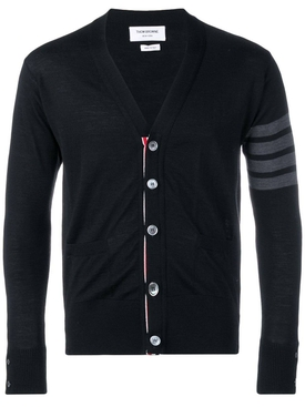 Thom Browne - Classic Black Cardigan - Men