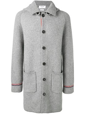 Thom Browne - Overwashed Wool Blend Duffle Coat - Men