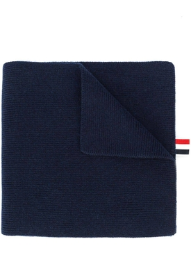 Thom Browne - 4-bar Stripe Cashmere Scarf Navy - Women