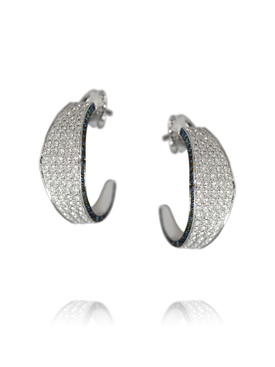 Modernist Hoop Earrings