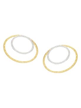 Modernist sapphire and diamond earrings