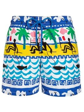 Vilebrequin x Jean Charles de Castelbajac Printed swim shorts