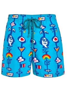 x Jean Charles de Castelbajac tropical swim shorts BLUE