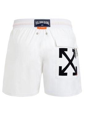 Off-white - Off-white X Vilebrequin Swim Shorts White - Beachwear