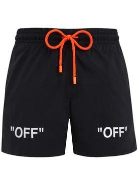Off-white - Off-white X Vilebrequin Swim Shorts Black - Beachwear
