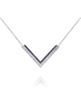Modernist Sapphire Triangle necklace