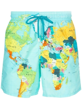Global print swim shorts