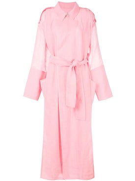 Maison Rabih Kayrouz - Pink Belted Trench Coat - Women
